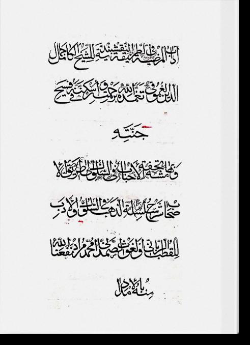 Адаб аль-мардыйя фи тарика ан-накшбандия. أدب المرضية في طريقة النقشبندية